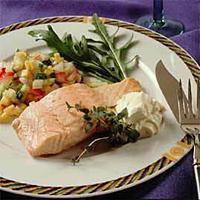 Kald laks med grønnsaksalsa -
