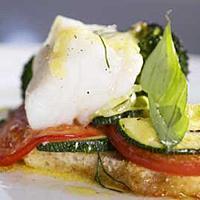 Fisk og grønnsaker i form -
