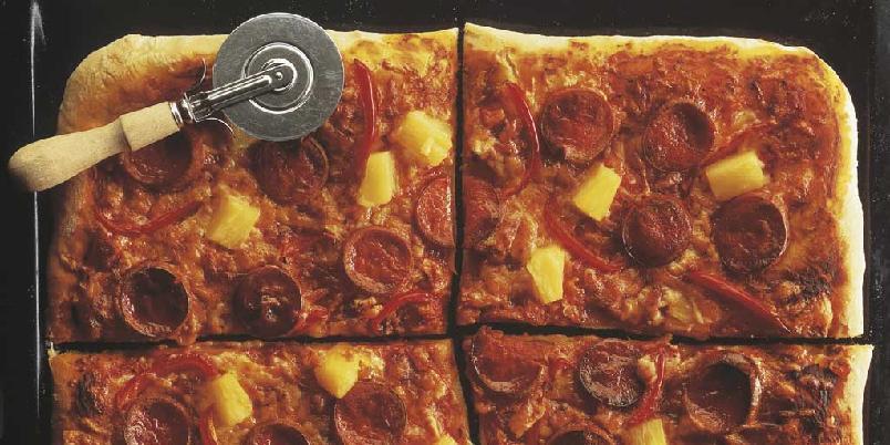 Pølsepizza -