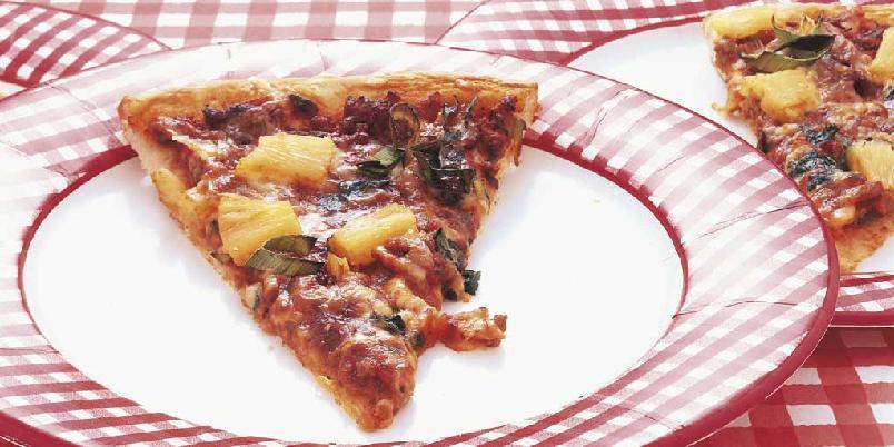 Pizza med kjøttdeig -
