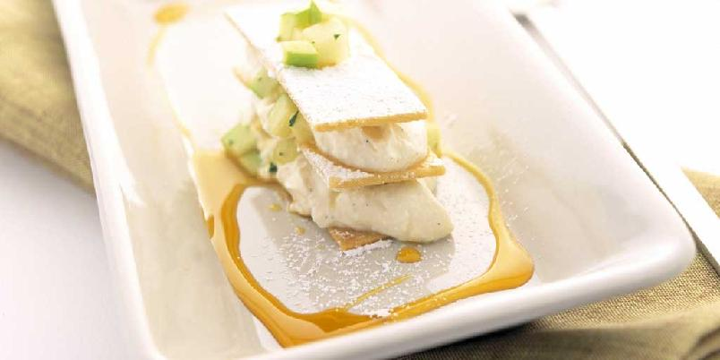 Epleterte med cottage cheese - Elegant eplekake? Her er den...