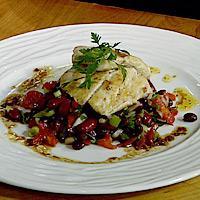 Seibiff med bønnesalat og soyasmør -