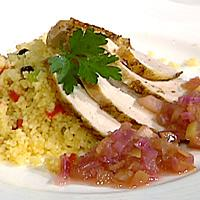 Stekt kylling, eplechutney og couscous -