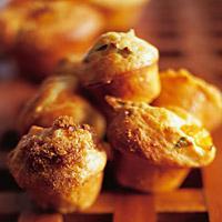 Muffins med gresskar og basilikum -