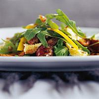 Salat med Philadelphia og stekt reinsdyrfilet -