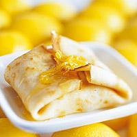 Fylte pannekaker ost og sitronsmaker -