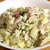 Kremet potetsalat -