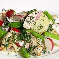 Kylling- og potetsalat med dill -