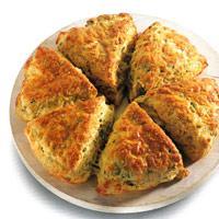 Hurtigbrød med ost og gressløk -