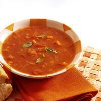 Gulrot- og tomatsuppe -