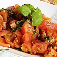Tomates a la Corobessa con pesto -
