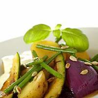 Marinerte grønnsaker med fetaostkrem -
