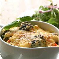 Pastagrateng med grønnsaker -