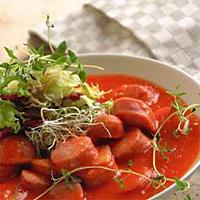 Pølsegryte med chili -