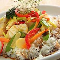 Steinbit i wok -