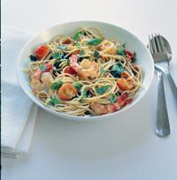 Spagetti med scampi - Denne pastaretten kan du gjerne servere når du har gjester.