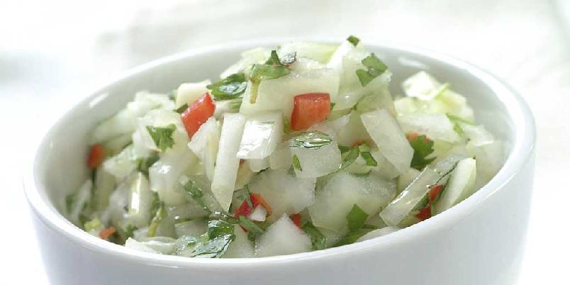 Pebre - hot salsa - Chilensk salsa som blir mye brukt til stekt kjøtt.