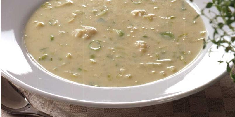 Blomkålsuppe med ost -