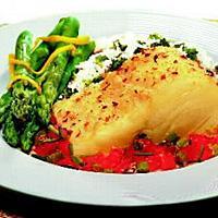 Klippfisk med asparges -