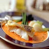 Skrei med fennikel og paprikasaus -