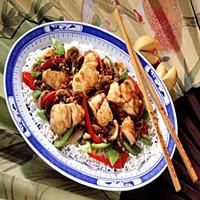 Stekt torsk med kinesisk saus -