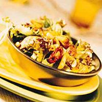 Salat med krydret varm sild -