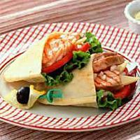 Pitabrød med laks -