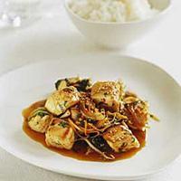Kveite i wok -