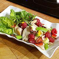 Kylling- og baconsalat -