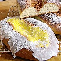 Søtt hvetebrød med eple- eller vaniljefyll -