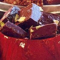 Konfekt av mokkasjokolade -