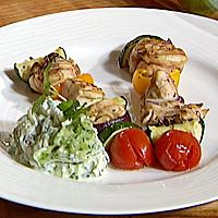 Kyllingspyd med tzatsiki -