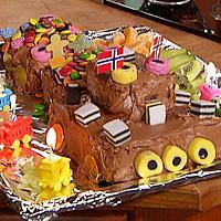 Sjokoladebursdagskake -