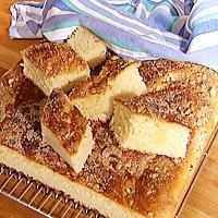 Hvetekake med sitronsmak i langpanne -