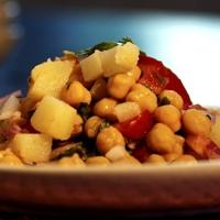 Chane ki chaat indisk kikertesalat -