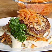 Seiburgere på ristet grovbrød -