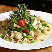Lun pasta med kylling og blåmuggost -