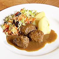 Kjøttkaker i brun saus -