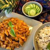 Panangkarri med kylling og peanøtter -