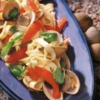 Hjerteskjell med pasta og tomater -