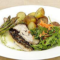 Stekt makrell med urteolje -