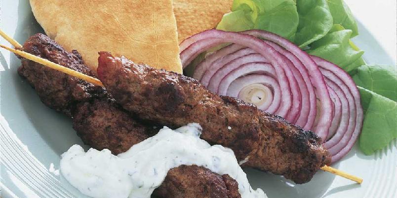 Kebab i pitabrød -