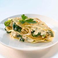 Pannekakefyll med kylling - Kyllingfyllet kan også brukes i panini, på chiabatta eller på toast.