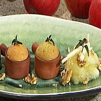 Gresskar- og eplemuffins -