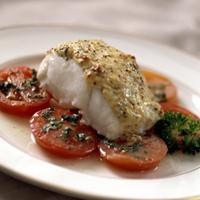 Juletorsk med tomatsalat -