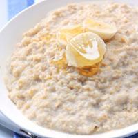 Porridge - Havregrynsgrøt med honning og banan -