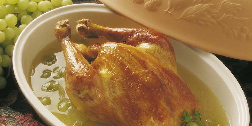 Kylling fylt med druer -