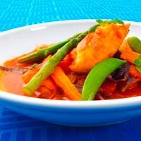 Tomatisert fiskegryte -