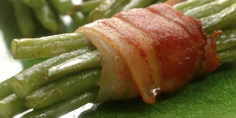 Aspargesbønner med bacon -