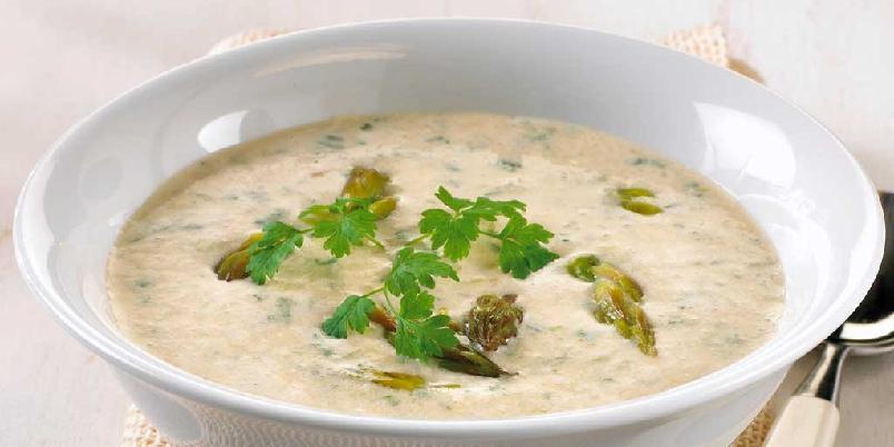 Aspargessuppe med kjørvel -